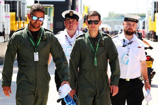 Royal Navy in the paddock. 05.07.2018. Formula 1 World Championship, Rd 10, British Grand Prix, Silverstone, England, Preparation Day. - www.xpbimages.com, EMail: requests@xpbimages.com - copy of publication required for printed pictures. Every used picture is fee-liable. © Copyright: Photo4 / XPB Images