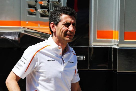 Andrea Stella (ITA) McLaren Performance Director. 05.07.2018. Formula 1 World Championship, Rd 10, British Grand Prix, Silverstone, England, Preparation Day. - www.xpbimages.com, EMail: requests@xpbimages.com - copy of publication required for printed pictures. Every used picture is fee-liable. © Copyright: Photo4 / XPB Images