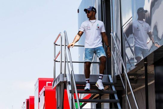 Lewis Hamilton (GBR) Mercedes AMG F1. 05.07.2018. Formula 1 World Championship, Rd 10, British Grand Prix, Silverstone, England, Preparation Day.  - www.xpbimages.com, EMail: requests@xpbimages.com - copy of publication required for printed pictures. Every used picture is fee-liable. © Copyright: Rew / XPB Images