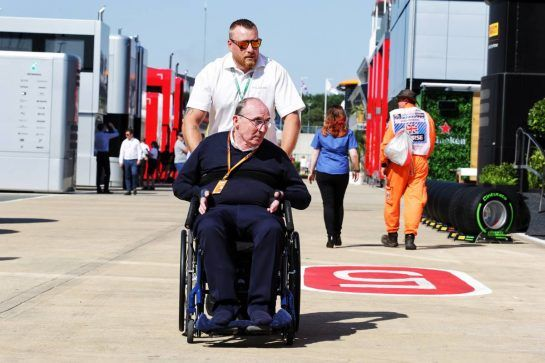 Frank Williams (GBR) Williams Team Owner. 05.07.2018. Formula 1 World Championship, Rd 10, British Grand Prix, Silverstone, England, Preparation Day.  - www.xpbimages.com, EMail: requests@xpbimages.com - copy of publication required for printed pictures. Every used picture is fee-liable. © Copyright: Bearne / XPB Images