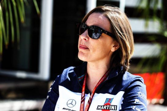 Claire Williams (GBR) Williams Deputy Team Principal. 05.07.2018. Formula 1 World Championship, Rd 10, British Grand Prix, Silverstone, England, Preparation Day. - www.xpbimages.com, EMail: requests@xpbimages.com - copy of publication required for printed pictures. Every used picture is fee-liable. © Copyright: Batchelor / XPB Images