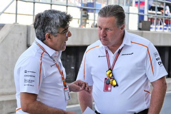 Zak Brown (USA) McLaren Executive Director (Right). 06.07.2018. Formula 1 World Championship, Rd 10, British Grand Prix, Silverstone, England, Practice Day. - www.xpbimages.com, EMail: requests@xpbimages.com - copy of publication required for printed pictures. Every used picture is fee-liable. © Copyright: Moy / XPB Images