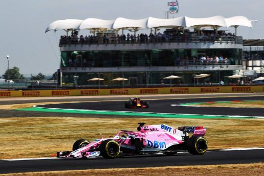 Sergio Perez (MEX) Sahara Force India F1 VJM11. 06.07.2018. Formula 1 World Championship, Rd 10, British Grand Prix, Silverstone, England, Practice Day. - www.xpbimages.com, EMail: requests@xpbimages.com - copy of publication required for printed pictures. Every used picture is fee-liable. © Copyright: Photo4 / XPB Images