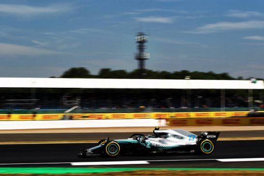 Valtteri Bottas (FIN) Mercedes AMG F1 W09. 06.07.2018. Formula 1 World Championship, Rd 10, British Grand Prix, Silverstone, England, Practice Day. - www.xpbimages.com, EMail: requests@xpbimages.com - copy of publication required for printed pictures. Every used picture is fee-liable. © Copyright: Photo4 / XPB Images