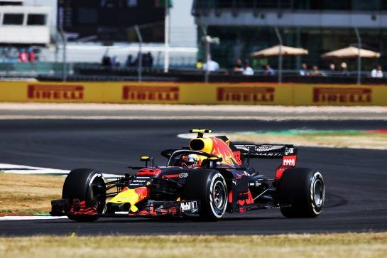 Max Verstappen (NLD) Red Bull Racing RB14. 06.07.2018. Formula 1 World Championship, Rd 10, British Grand Prix, Silverstone, England, Practice Day. - www.xpbimages.com, EMail: requests@xpbimages.com - copy of publication required for printed pictures. Every used picture is fee-liable. © Copyright: Photo4 / XPB Images