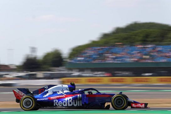 Pierre Gasly (FRA) Scuderia Toro Rosso 06.07.2018. Formula 1 World Championship, Rd 10, British Grand Prix, Silverstone, England, Practice Day.- www.xpbimages.com, EMail: requests@xpbimages.com - copy of publication required for printed pictures. Every used picture is fee-liable. © Copyright: Charniaux / XPB Images