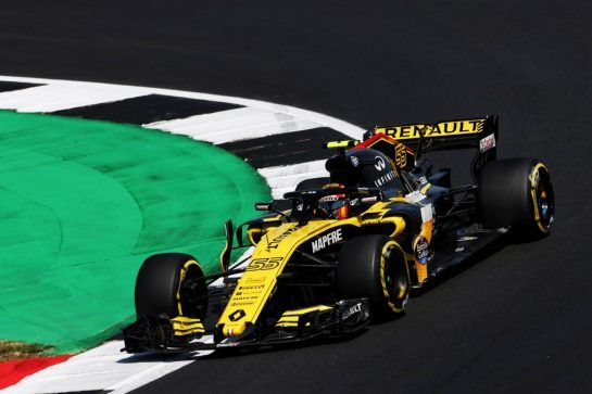 Carlos Sainz Jr (ESP) Renault Sport F1 Team RS18. 06.07.2018. Formula 1 World Championship, Rd 10, British Grand Prix, Silverstone, England, Practice Day. - www.xpbimages.com, EMail: requests@xpbimages.com - copy of publication required for printed pictures. Every used picture is fee-liable. © Copyright: Moy / XPB Images