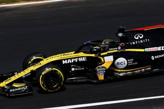 Nico Hulkenberg (GER) Renault Sport F1 Team RS18. 06.07.2018. Formula 1 World Championship, Rd 10, British Grand Prix, Silverstone, England, Practice Day. - www.xpbimages.com, EMail: requests@xpbimages.com - copy of publication required for printed pictures. Every used picture is fee-liable. © Copyright: Moy / XPB Images