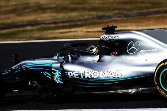 Lewis Hamilton (GBR) Mercedes AMG F1 W09. 06.07.2018. Formula 1 World Championship, Rd 10, British Grand Prix, Silverstone, England, Practice Day. - www.xpbimages.com, EMail: requests@xpbimages.com - copy of publication required for printed pictures. Every used picture is fee-liable. © Copyright: Moy / XPB Images