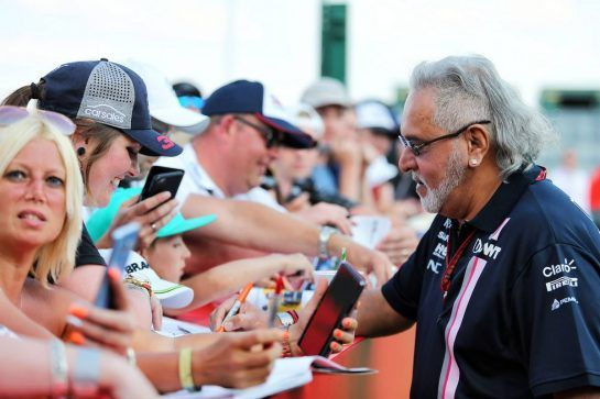 Dr. Vijay Mallya (IND) Sahara Force India F1 Team Owner signs autographs for the fans. 06.07.2018. Formula 1 World Championship, Rd 10, British Grand Prix, Silverstone, England, Practice Day. - www.xpbimages.com, EMail: requests@xpbimages.com - copy of publication required for printed pictures. Every used picture is fee-liable. © Copyright: Moy / XPB Images