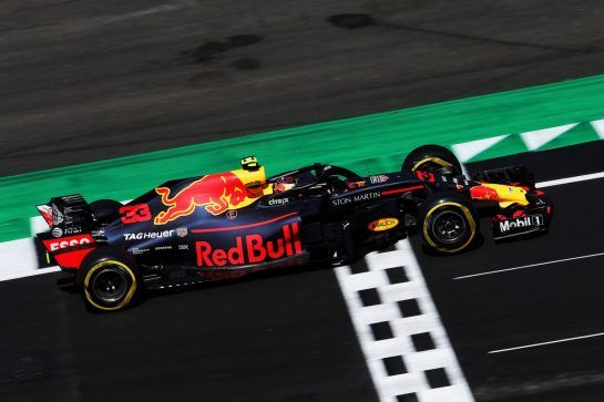 Max Verstappen (NLD) Red Bull Racing RB14. 07.07.2018. Formula 1 World Championship, Rd 10, British Grand Prix, Silverstone, England, Qualifying Day. - www.xpbimages.com, EMail: requests@xpbimages.com - copy of publication required for printed pictures. Every used picture is fee-liable. © Copyright: Moy / XPB Images