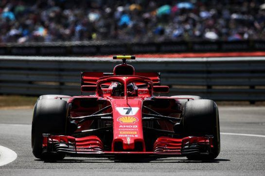 Kimi Raikkonen (FIN) Ferrari SF71H. 07.07.2018. Formula 1 World Championship, Rd 10, British Grand Prix, Silverstone, England, Qualifying Day. - www.xpbimages.com, EMail: requests@xpbimages.com - copy of publication required for printed pictures. Every used picture is fee-liable. © Copyright: Batchelor / XPB Images