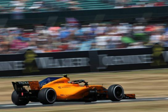Stoffel Vandoorne (BEL) McLaren F1 07.07.2018. Formula 1 World Championship, Rd 10, British Grand Prix, Silverstone, England, Qualifying Day.- www.xpbimages.com, EMail: requests@xpbimages.com - copy of publication required for printed pictures. Every used picture is fee-liable. © Copyright: Charniaux / XPB Images