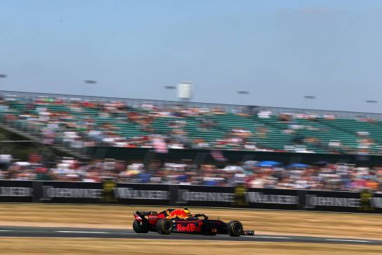 Max Verstappen (NLD) Red Bull Racing 07.07.2018. Formula 1 World Championship, Rd 10, British Grand Prix, Silverstone, England, Qualifying Day.- www.xpbimages.com, EMail: requests@xpbimages.com - copy of publication required for printed pictures. Every used picture is fee-liable. © Copyright: Charniaux / XPB Images