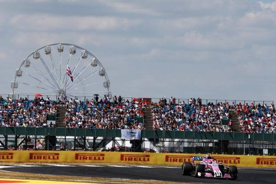 Esteban Ocon (FRA) Sahara Force India F1 VJM11. 07.07.2018. Formula 1 World Championship, Rd 10, British Grand Prix, Silverstone, England, Qualifying Day. - www.xpbimages.com, EMail: requests@xpbimages.com - copy of publication required for printed pictures. Every used picture is fee-liable. © Copyright: Moy / XPB Images