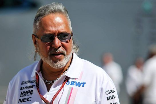 Dr. Vijay Mallya (IND) Sahara Force India F1 Team Owner. 08.07.2018. Formula 1 World Championship, Rd 10, British Grand Prix, Silverstone, England, Race Day. - www.xpbimages.com, EMail: requests@xpbimages.com - copy of publication required for printed pictures. Every used picture is fee-liable. © Copyright: Moy / XPB Images