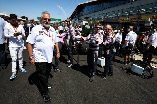 Dr. Vijay Mallya (IND) Sahara Force India F1 Team Owner on the grid. 08.07.2018. Formula 1 World Championship, Rd 10, British Grand Prix, Silverstone, England, Race Day. - www.xpbimages.com, EMail: requests@xpbimages.com - copy of publication required for printed pictures. Every used picture is fee-liable. © Copyright: Charniaux / XPB Images
