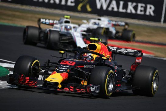 Daniel Ricciardo (AUS) Red Bull Racing RB14.08.07.2018. Formula 1 World Championship, Rd 10, British Grand Prix, Silverstone, England, Race Day.- www.xpbimages.com, EMail: requests@xpbimages.com - copy of publication required for printed pictures. Every used picture is fee-liable. © Copyright: Batchelor / XPB Images