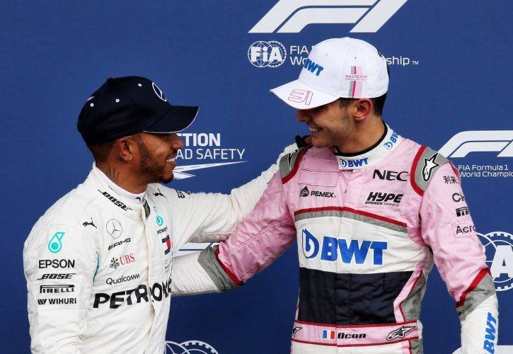 Esteban Ocon hails 'fantastic' Force India row two lockout
