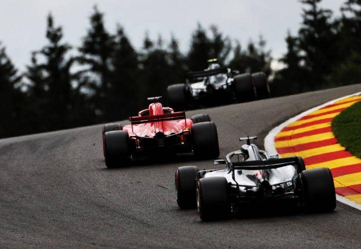 Vettel wins in Belgium to close in on Hamilton