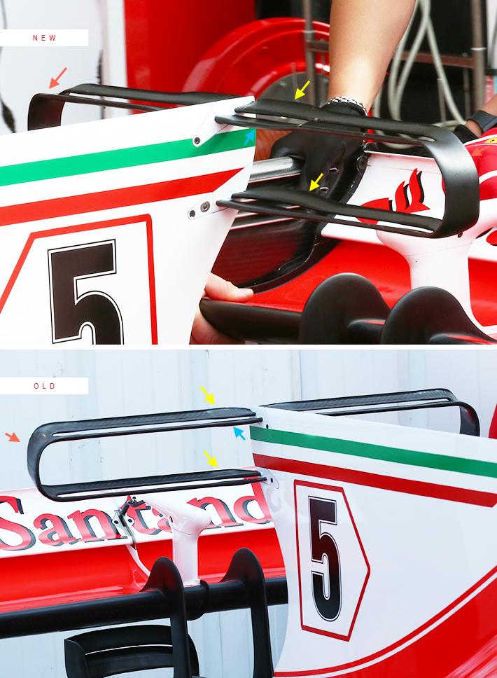 Ferrari SF70H Shark Fin T Wing