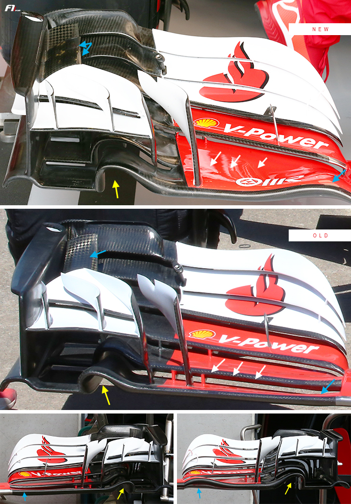 Ferrari SF70H Front Wing