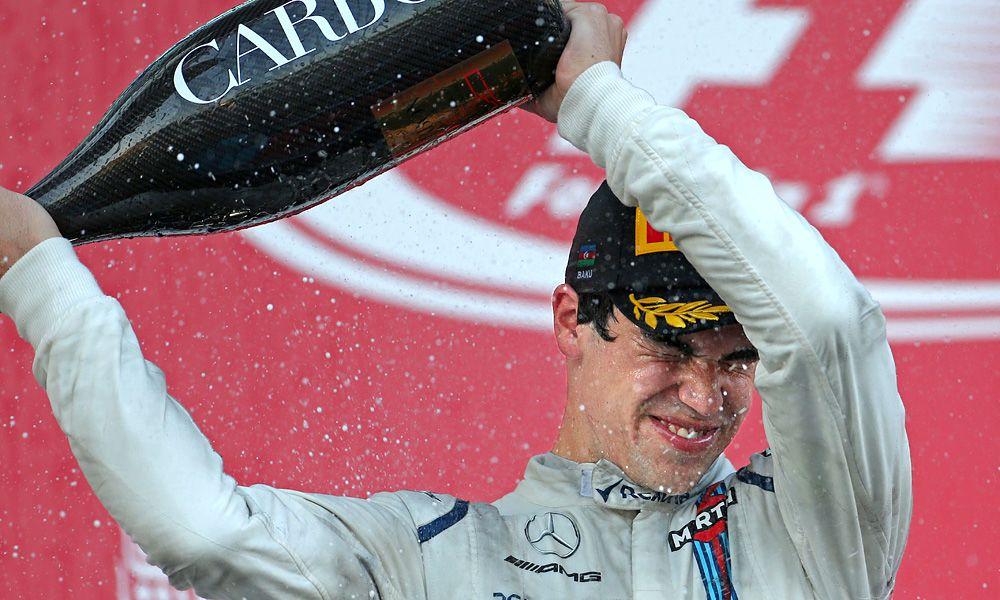 Lance Stroll, Williams F1, podium, Azerbaijan Grand Prix
