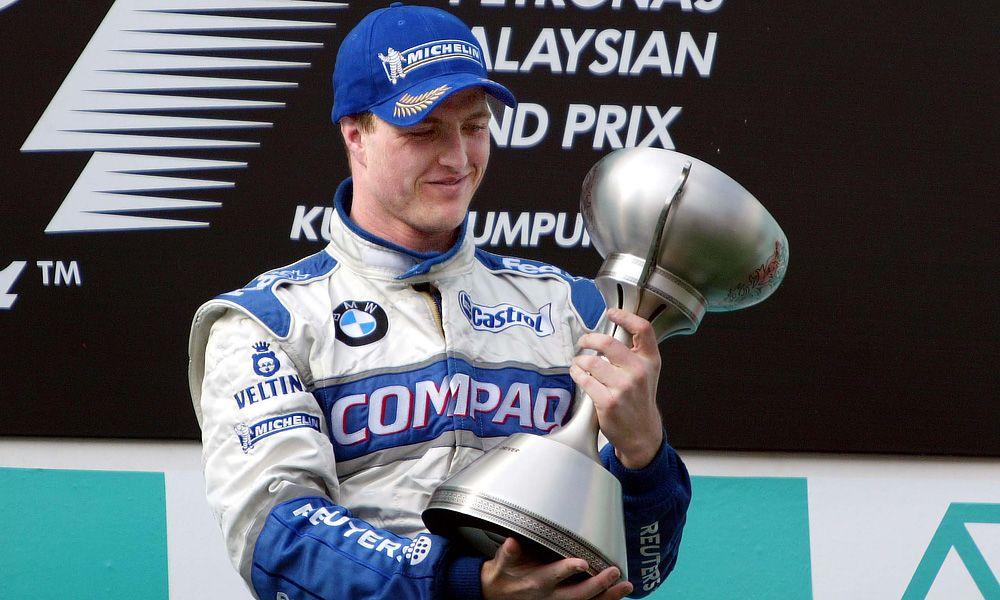 2002 Sepang, Malaysia, Ralf Schumacher on the podium