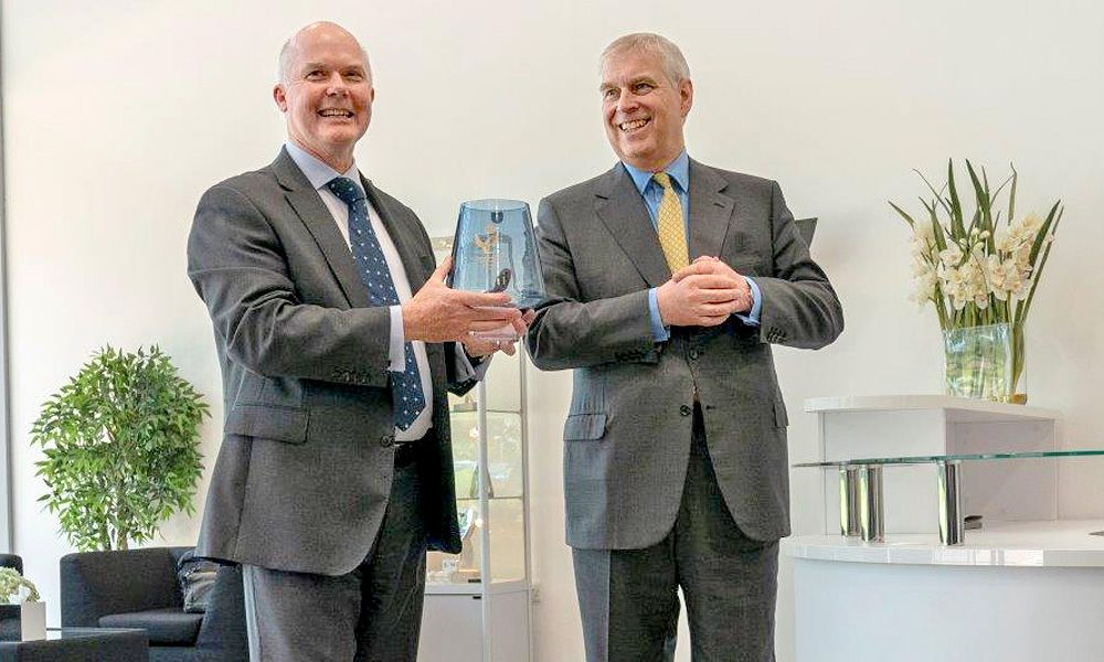 His Royal Highness The Duke of York visits Williams Advanced Engineering at Grove, Oxfordshire to present the 2018 Queen's Award for Enterprise in Innovation.
