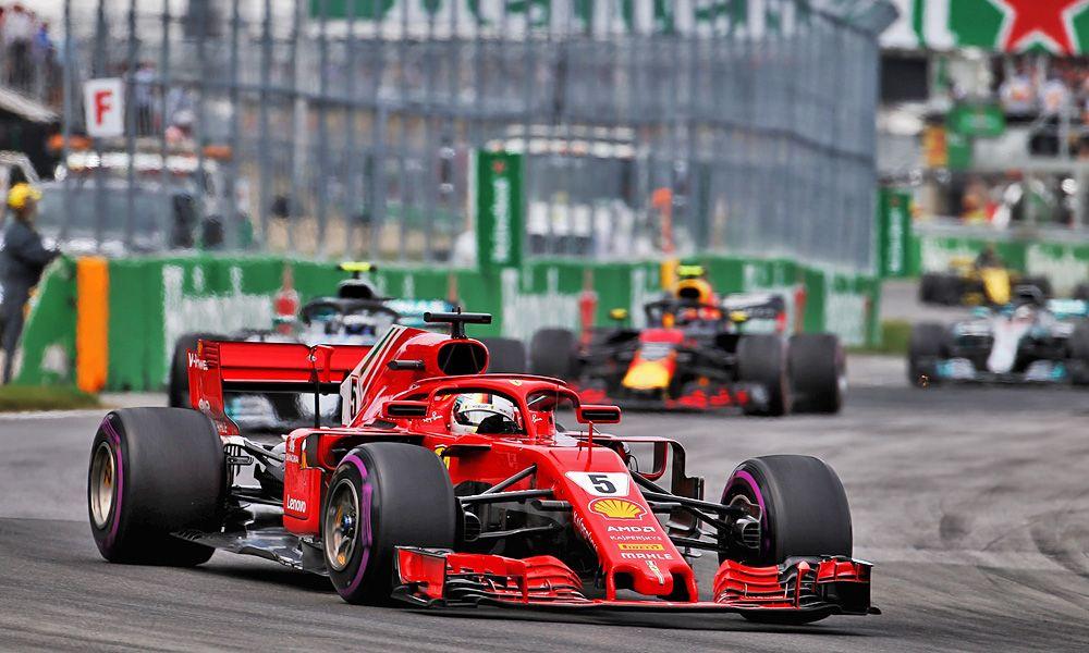 Sebastian Vettel (GER) Ferrari leads the 2018 Canadian Grand Prix