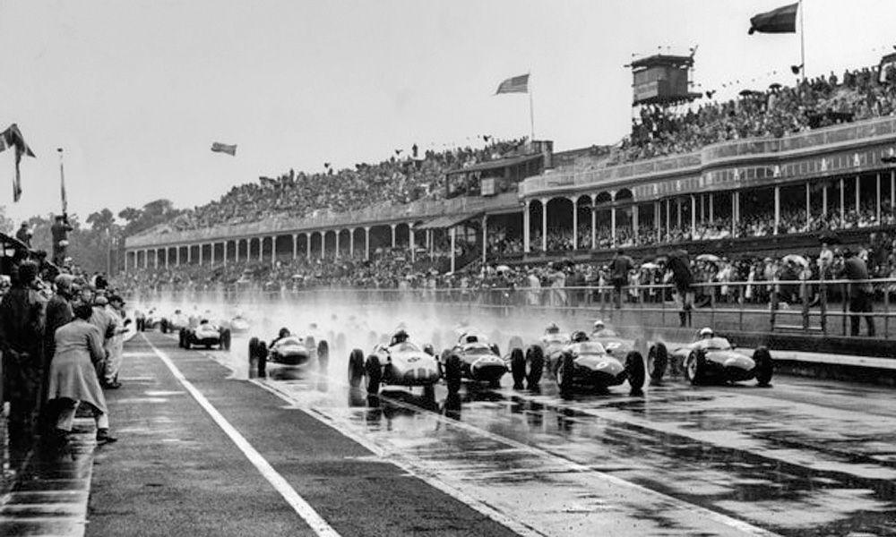 Start of the 1961 British Grand Prix.