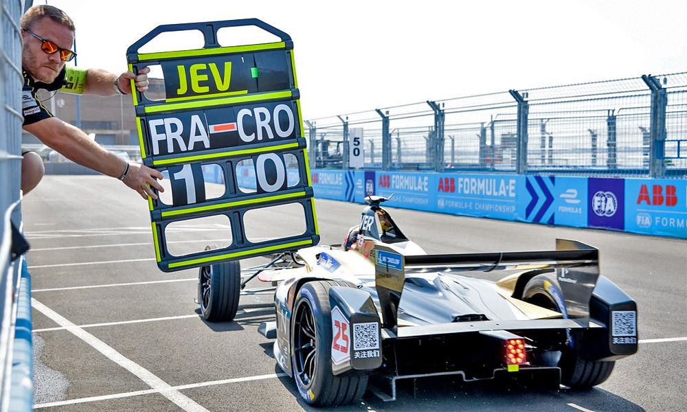 Techeetah's Jean-Eric Vergne in qualifying for the second race of the New York City ePrix.