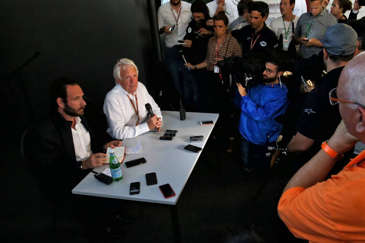 Charlie Whiting (GBR) FIA Delegate holds a media call regarding possible race exclusion for race winner Lewis Hamilton