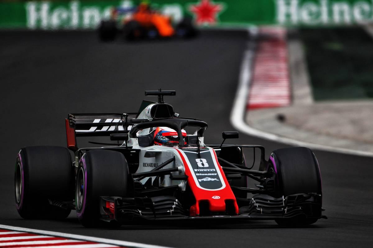 Romain Grosjean (FRA) Haas F1 Team VF-18.