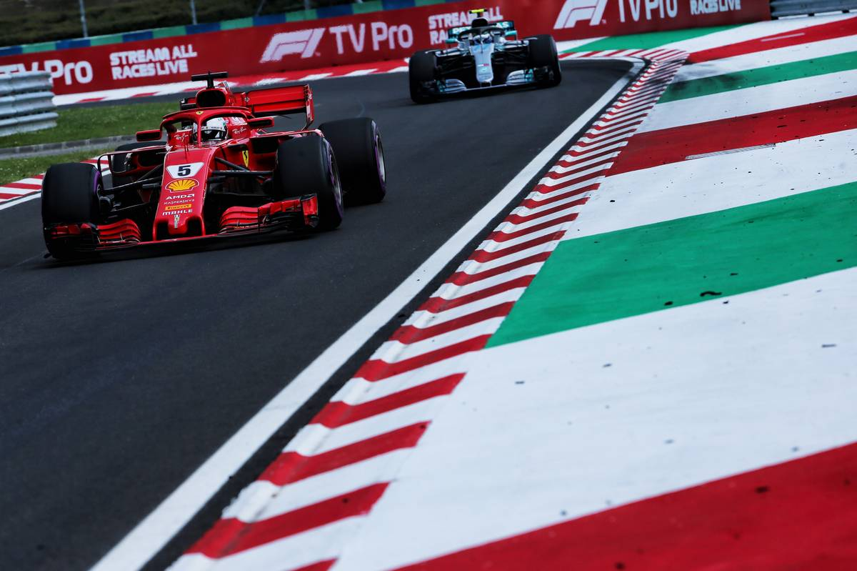 Hungarian Grand Prix: Sebastian Vettel (GER) Ferrari SF71H.