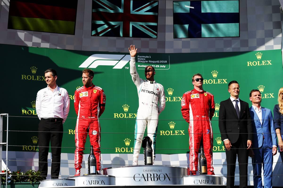 The Hungarian Grand Prix podium