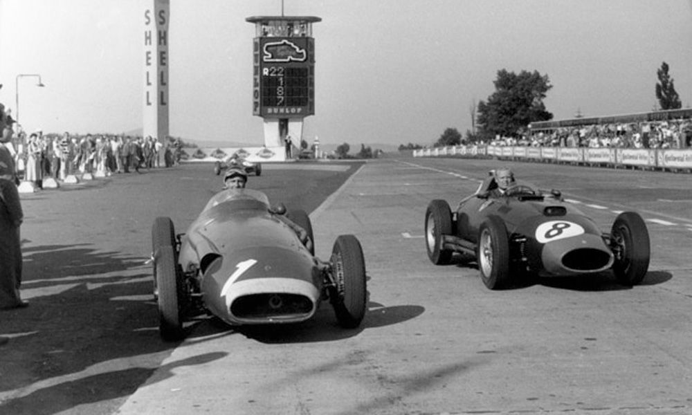 1957 German Grand Prix - Juan Manuel Fangio and Mike Hawthorn