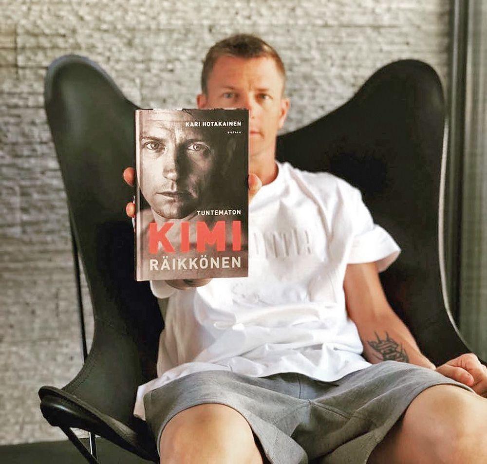 Kimi Raikkonen promotes his new autobiography.