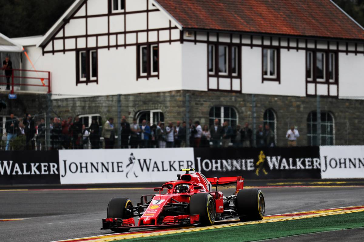 Kimi Raikkonen (FIN) Ferrari SF71H. 24.08.2018. Formula 1 World Championship, Rd 13, Belgian Grand Prix